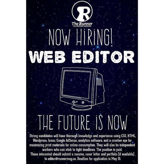 The Runner is currently hiring for the positions of photo…