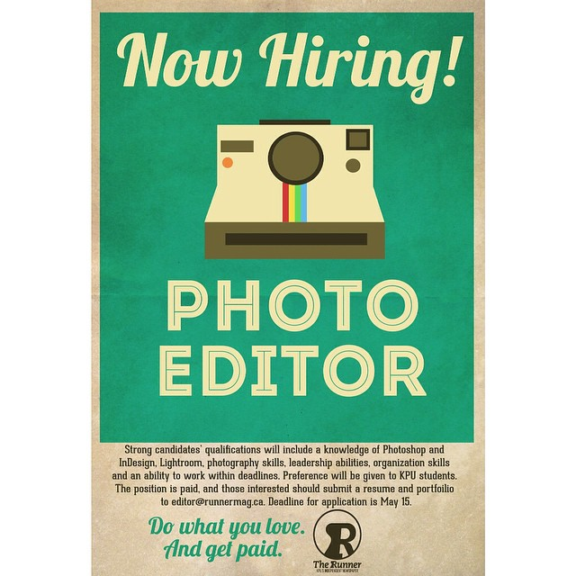 Looking for your next job? The Runner is currently hiring…