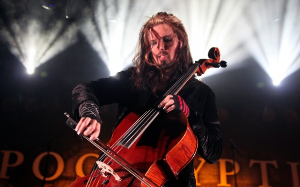 Perttu Kivilaakso shows off a more technical musical education, performing an intricate cello part during the band's opening instrumentals. JACOB ZINN/THE RUNNER
