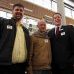 KSA staff Brad Head, Matt Todd and Derek Robertson show their support by wearing Ally badges with the Positive Space symbol. Photo by Kristi Alexandra