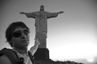 Justin Lukach in Brazil during the filming of a Departures episode. (Photo courtesy Justin Lukach)