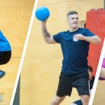 Students play dodgeball for charity