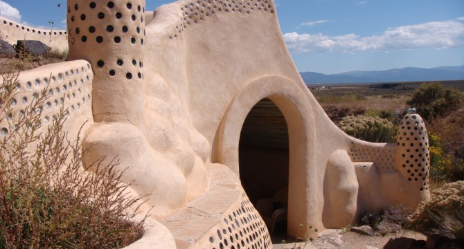 Earthship Exterior - Taos, New Mexico - Todd Dwyer 2008