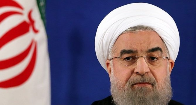 Irani President Hassan Rouhani in a press photo taken after his victory in the 2017 election. (Wikimedia Commons)