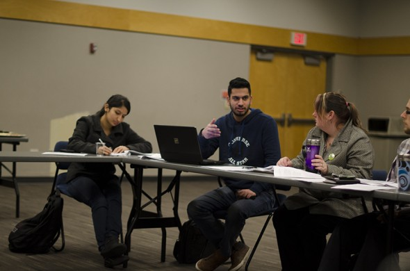 The Kwantlen Student Association unanimously approved an $8000 raise for its four executives during the Jan. 10 council meeting. (Mark Stewart/The Runner)