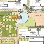 A potential location of the proposed student union building (outlined  in white) on a map of the Kwantlen Surrey campus.