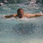A sprinter in the pool, McMahon specializes in the breaststroke, butterfly and individual medley, swimming the 50, 100 and 200 metre events. (Photo courtesy Rory Gibbons)