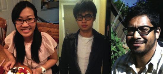 Left to right: Chanel Kwong, Davis Xu, Richard Hosein. (photo courtesy: Facebook)