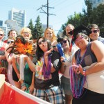 Kwantlen students, staff and faculty marched in the 2012 Vancouver Pride Parade in support of the local queer and trans communities. (Matt DiMera/The Runner)