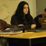 KSA executive members Jaspinder Ghuman, Nina Sandhu, and Bobby Padda at the April 14, 2011 meeting of council. MATT DIMERA/The Runner