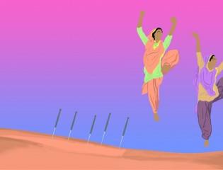 dancing needles
