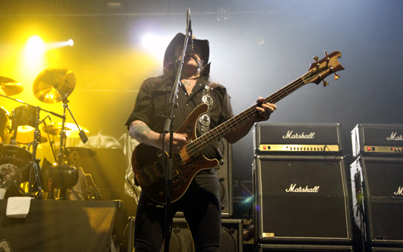 Bassist and frontman Lemmy Kilmister brought Abbotsford to its knees. (Jacob Zinn/The Runner)