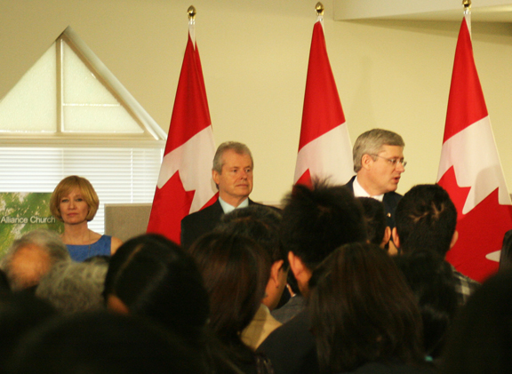 PM Harper not answering questions. Surprised? Photo by Jeff Groat/The Runner