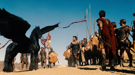 (Center) SAM WORTHINGTON as Perseus in a scene from Warner Bros. Pictures™ and Legendary Pictures action adventure WRATH OF THE TITANS,€ a Warner Bros. Pictures release.