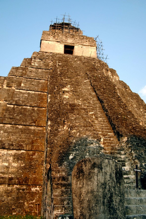 The pyramid at Tikal rivals other Mayan ruins for its beauty. Photo by Matthew Bossons.