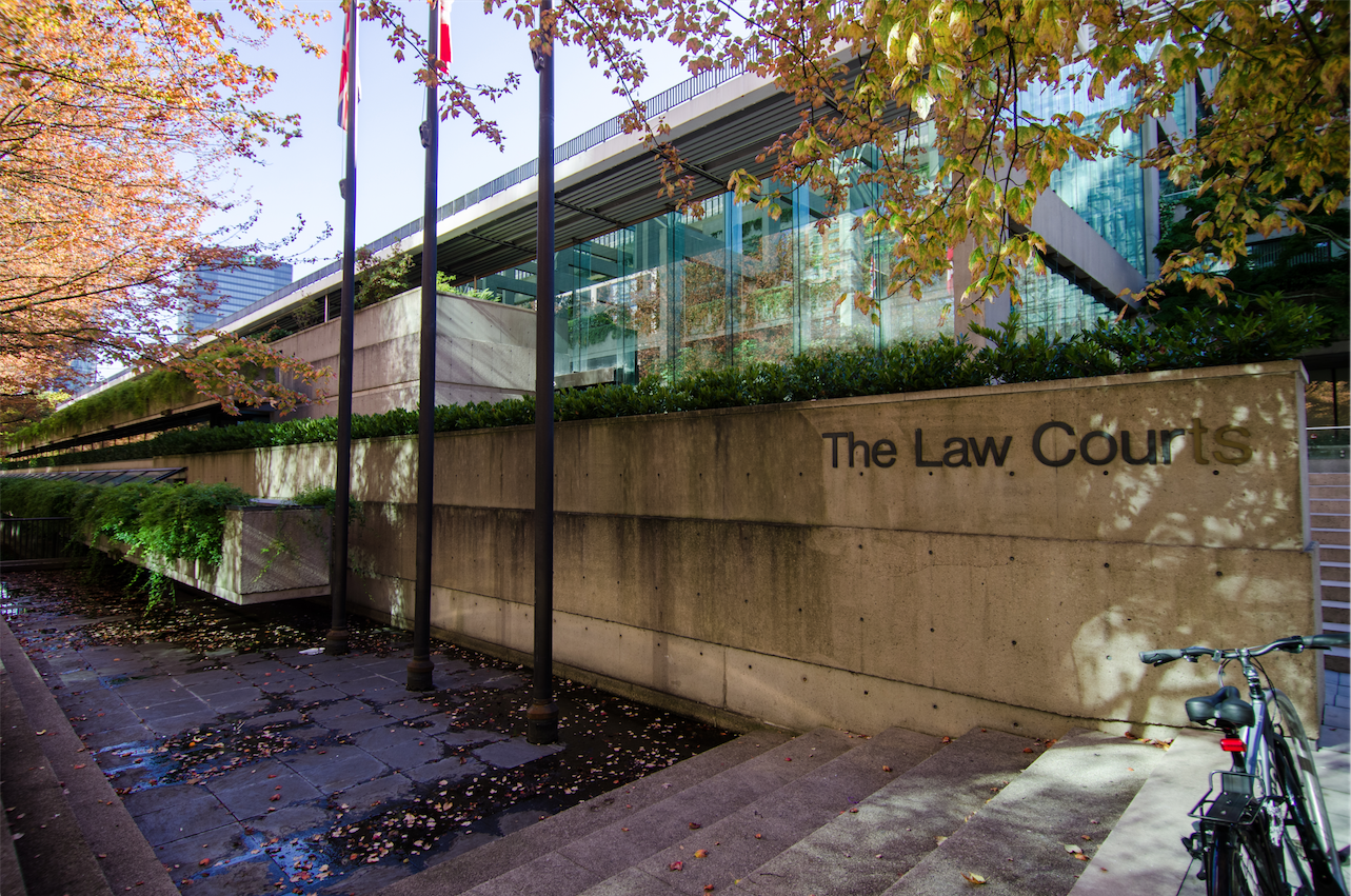 The BC Law Courts located in Vancouver. (flickr/Jeff Hitchcock)