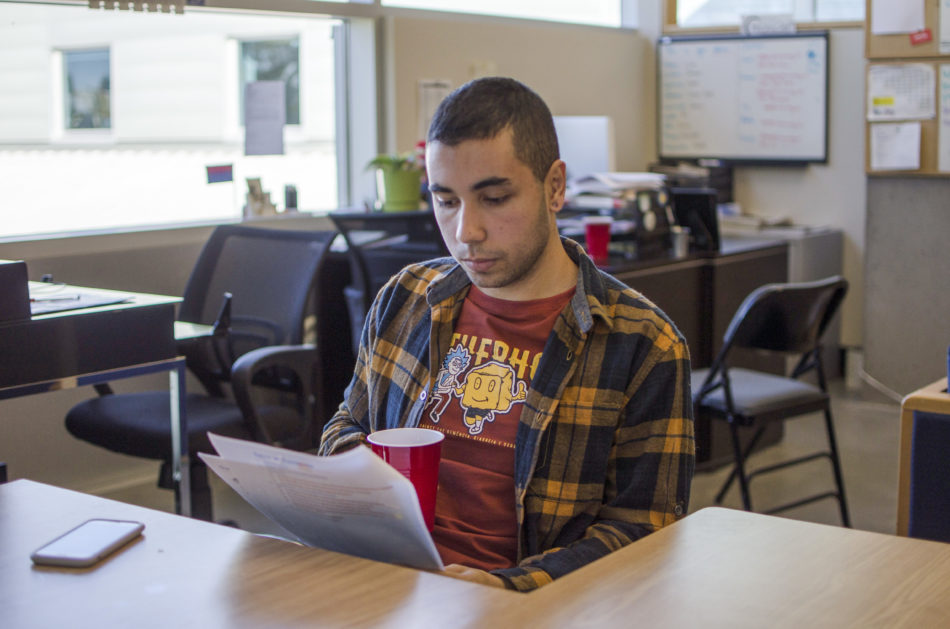 KPU International student Fernando Cilento wants to work in Canada as a writer after graduating from the journalism program. (Braden Klassen)