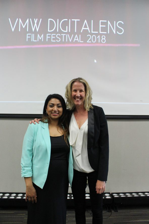 Aisha Amijee and Katie Warfield of KPU's Visual Media Workshop, and instructors of the Digital Storytelling Course. (Ashley Hyshka)