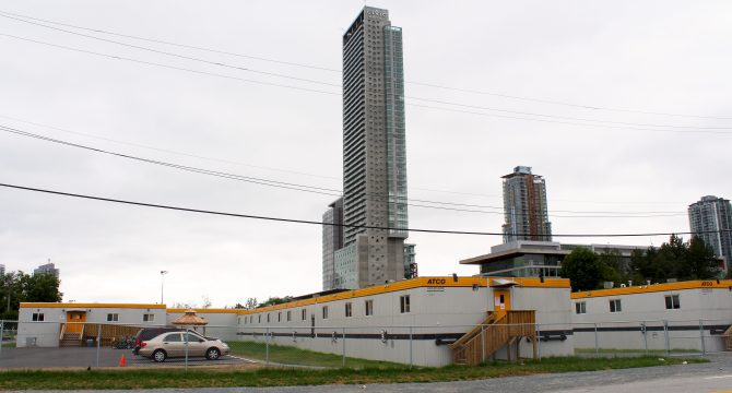 Three modular housing sites have been opened for previously homeless residents from the Surrey Strip. (Ashley Hyshka).