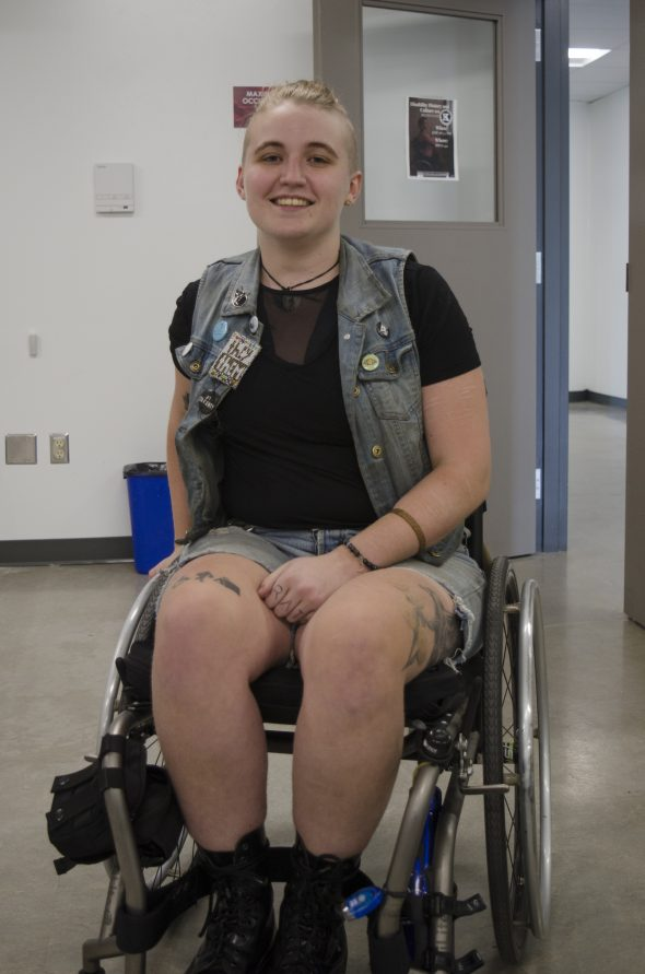 Disability workshop facilitator Q, specializes in teaching about the history and culture of people who live with disabilities. (Braden Klassen)